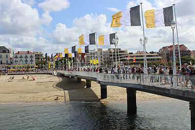one of the jetties in the centre of Arcachon