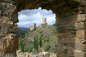 Chateau Lastours, cathar castle in Languedoc roussillon